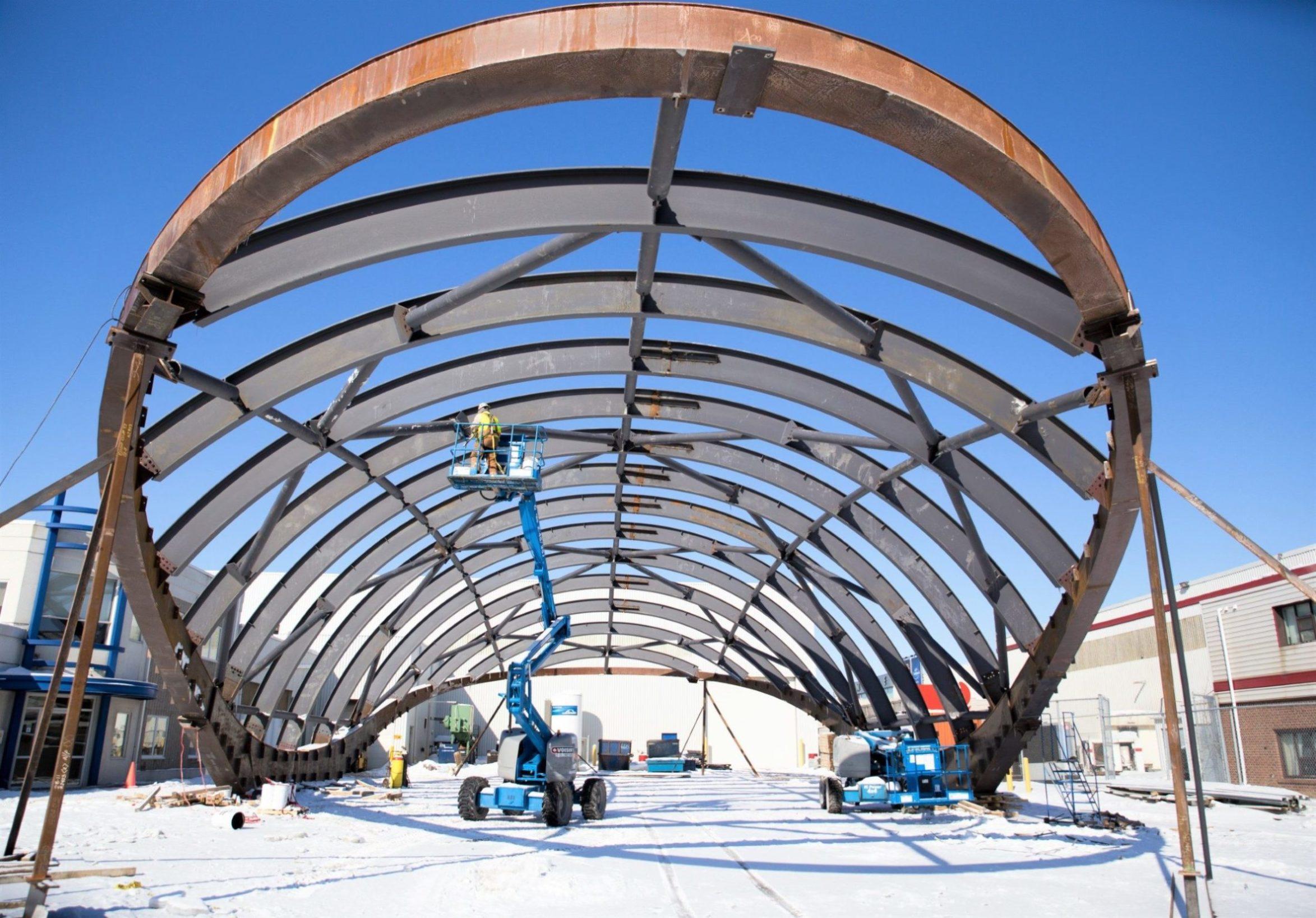 Parking Lot Test Fabrication - Benson Steel